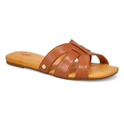 Lds Teague tan slide sandal