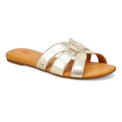 Lds Teague gold metallic slide sandal