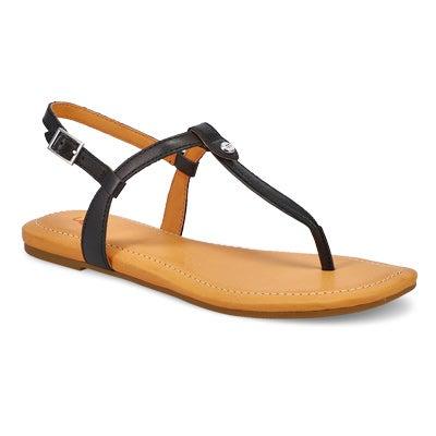 Lds Madeena black thong sandal