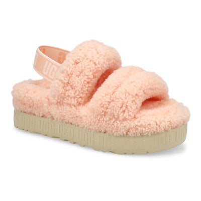 Pantoufle mouton Oh Fluffita, rose, fem
