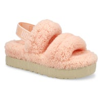 Pantoufle en peau de mouton OH FLUFFITA, rose, fem