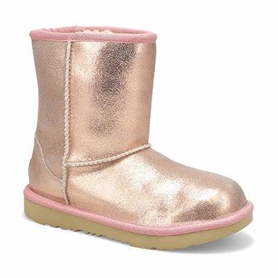 Grls ClassicIIMetalicGlitter Boot- Rsgld
