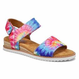 Lds Desert Kiss pink/multi casual sandal