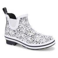 Women's Rain Check Chelsea Rain Boot - White/Black