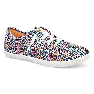Lds Bobs B Cute Lace Up Snkr-Multi/Leo