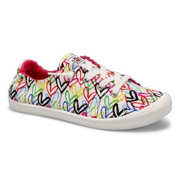 Lds Bobs Beach Bingo wt/mlti slip on snk