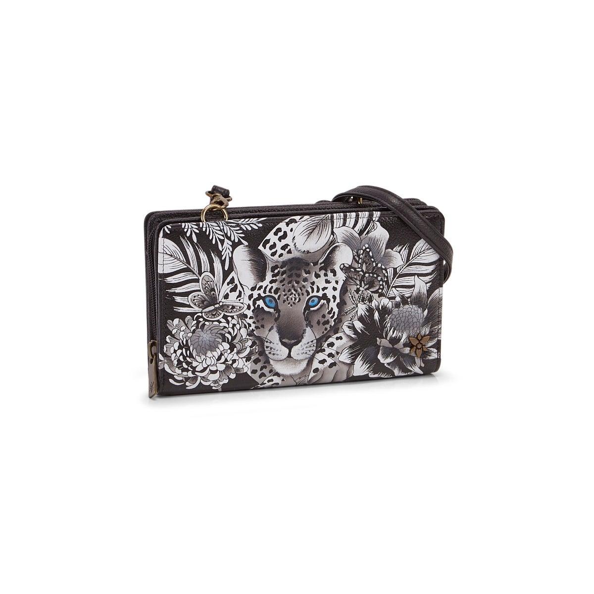 Women's Cleopatra's Leopard Crossbody Wallet