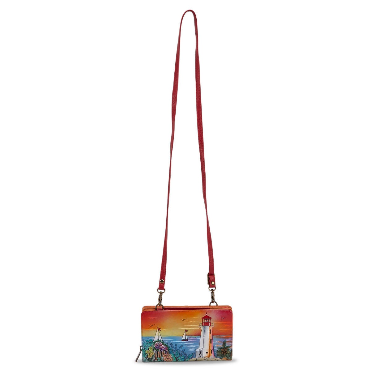 Portefeuille GUIDING LIGHT cuir peint multicolore