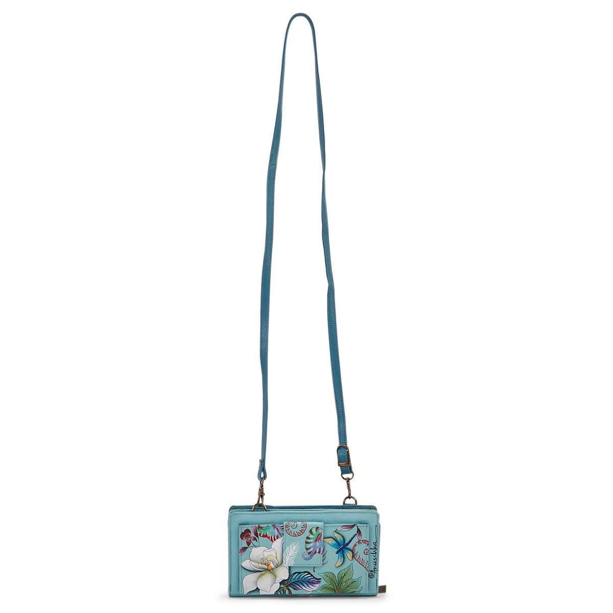 Women's Jardin Bleu Organizer Crossbody Wallet