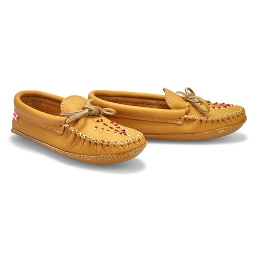 Lds dk tan double padded sole moccasin