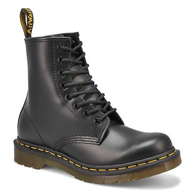 Women's 1460 8-Eye black smooth leather boots