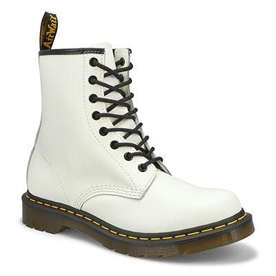 Ladies 1460 8 eye white smooth DML sole