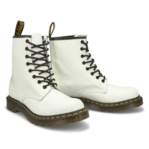 Lds 1460 8-Eye white smooth boot
