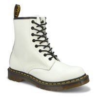 Ladies 1460 8 Eye Smooth Boot - White