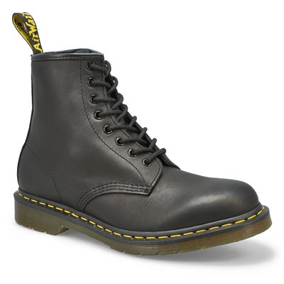 Men's 1460 8-Eye black matte leather boots