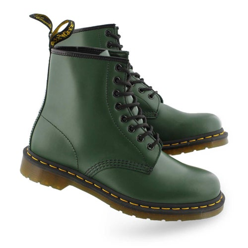 Lds 1460 8 eye green smooth boot