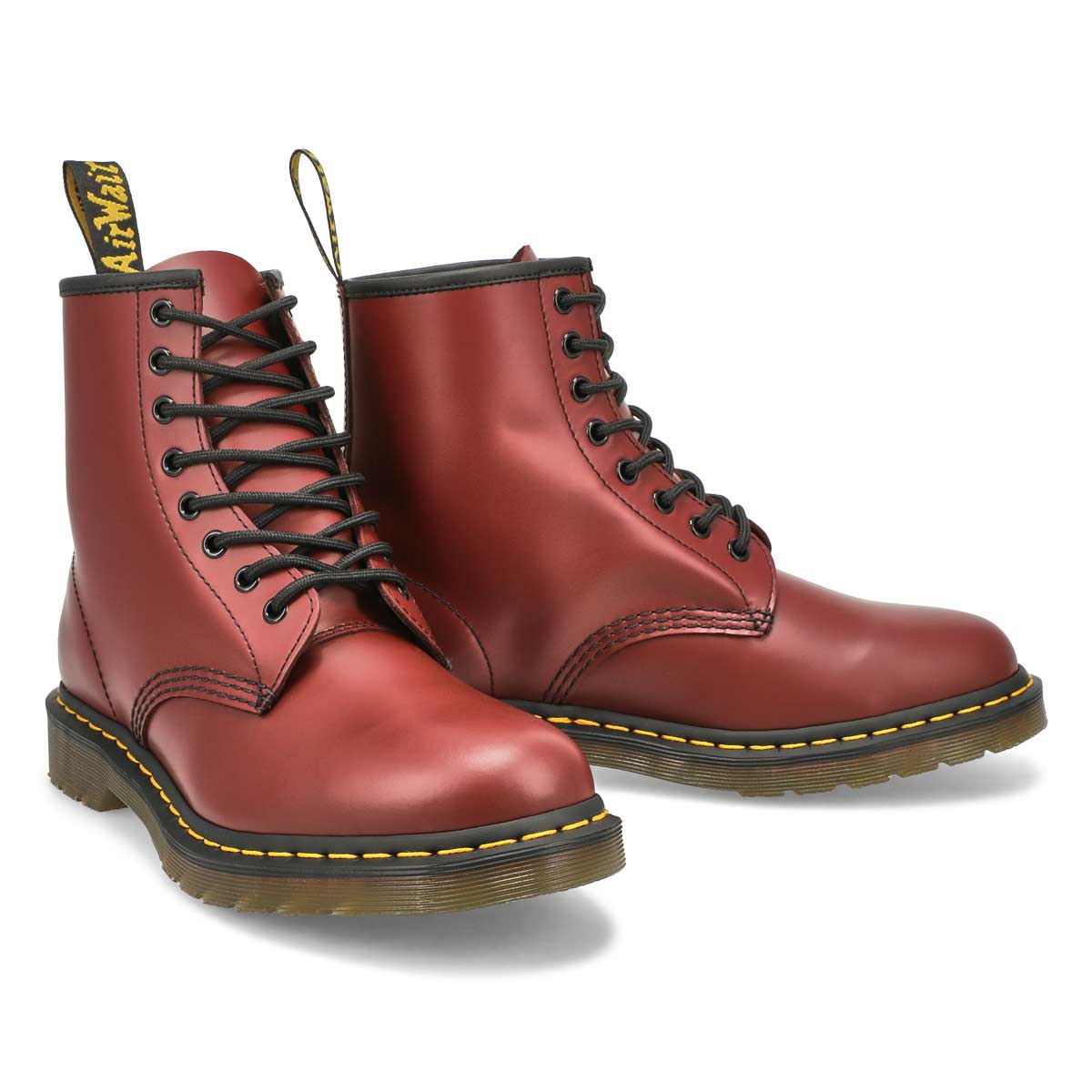 Men's1460 8-Eye Smooth Leather Boot - Cherry Red