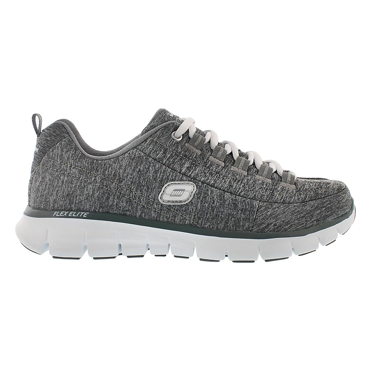 Lds Spot On gry lace up running shoe