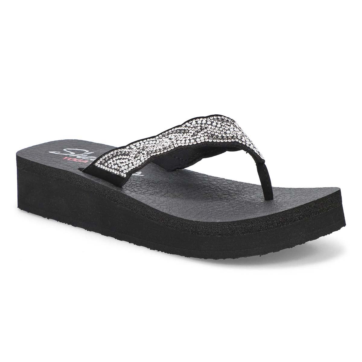 Women's Vinyassa Happy Pearl Sandal - Black