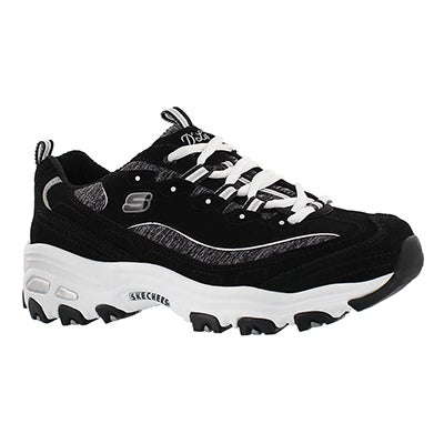 Skechers Women's D'LITES ME TIME black/white sneakers