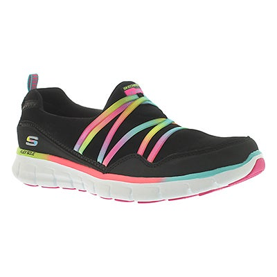Skechers Women's SCENE STEALER black/multi bungee slip ons