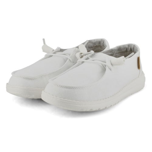 Lds Wendy Chambray white casual shoe