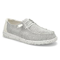 Lds Wendy Sox stone/white casual shoe