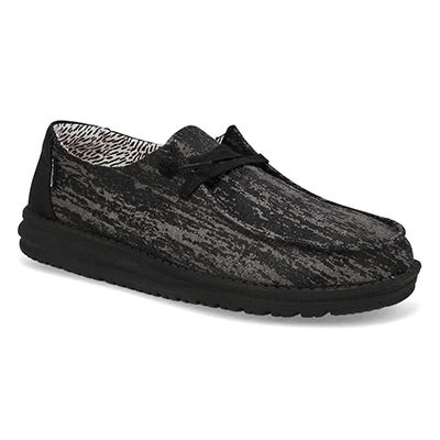 Lds Wendy black marble casual shoe