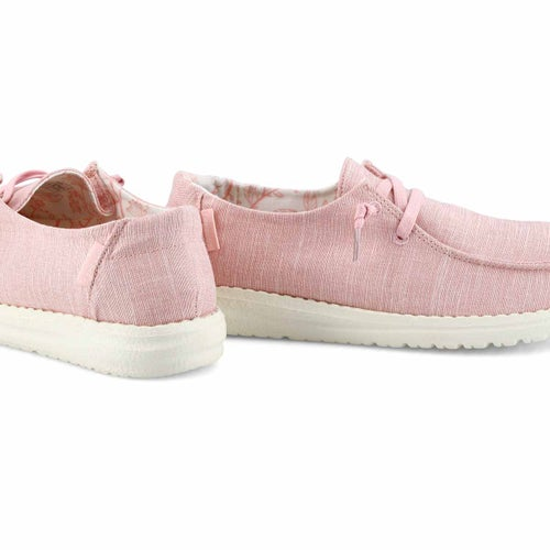 Lds Wendy Linen pink casual shoe