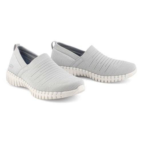 Lds GOwalk Smart Wise grey slip on shoe