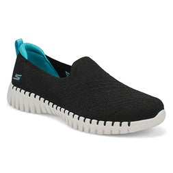 Lds GOwalk Smart blk/trqse slip on shoe
