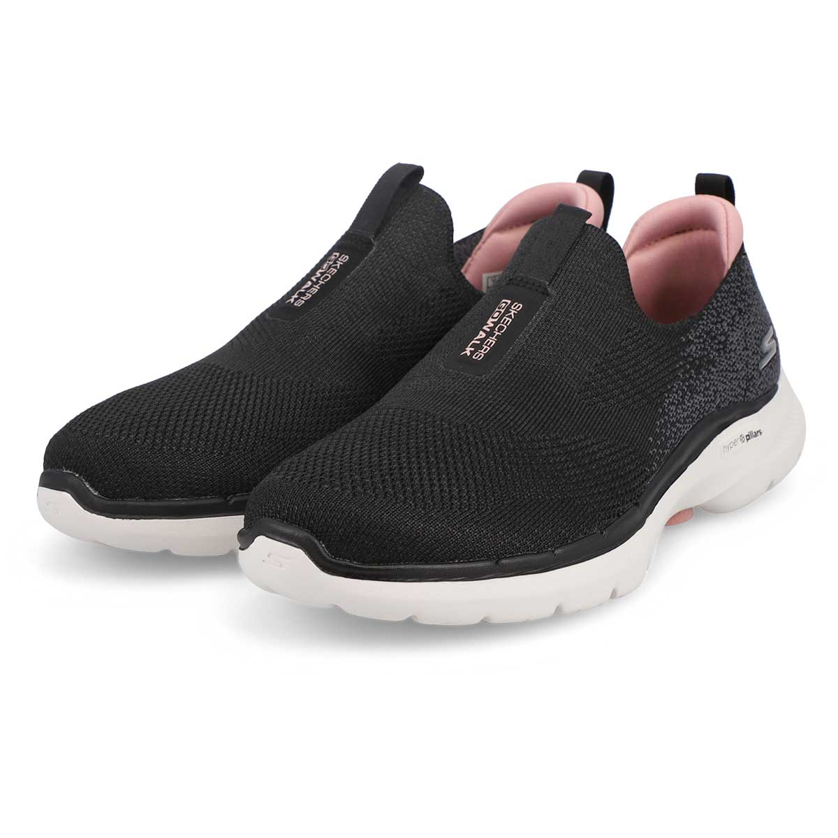 Women's Go Walk 6 Slip On Shoe - Black/Pink