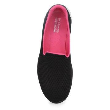 Women's Go Walk 6 Slip On Sneaker - Black/Pink