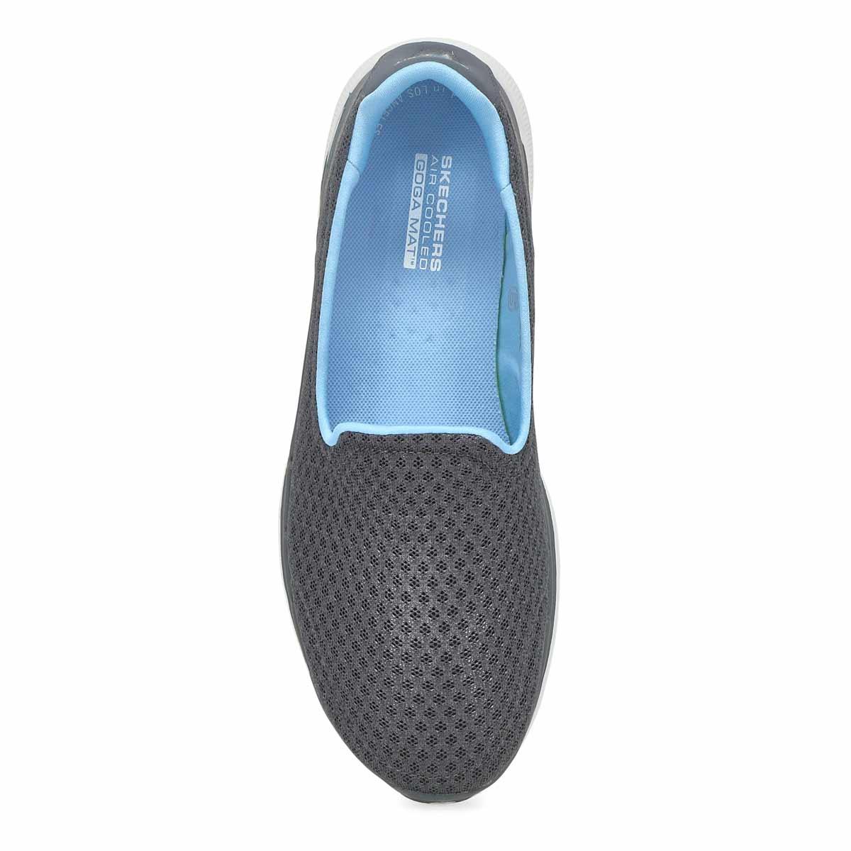Espadrille à enfiler Go Walk 6, femmes - Gris/Bleu