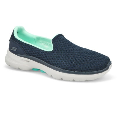 Lds Go Walk 6 Big Splash Snkr- Navy/Trqs