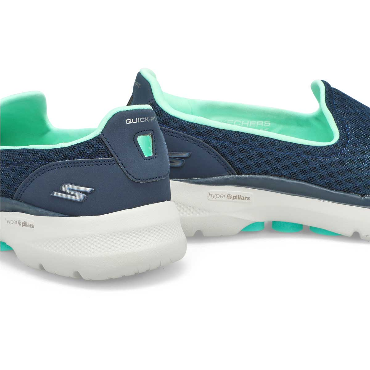Women's Go Walk 6 Sneaker - Navy/Turquoise