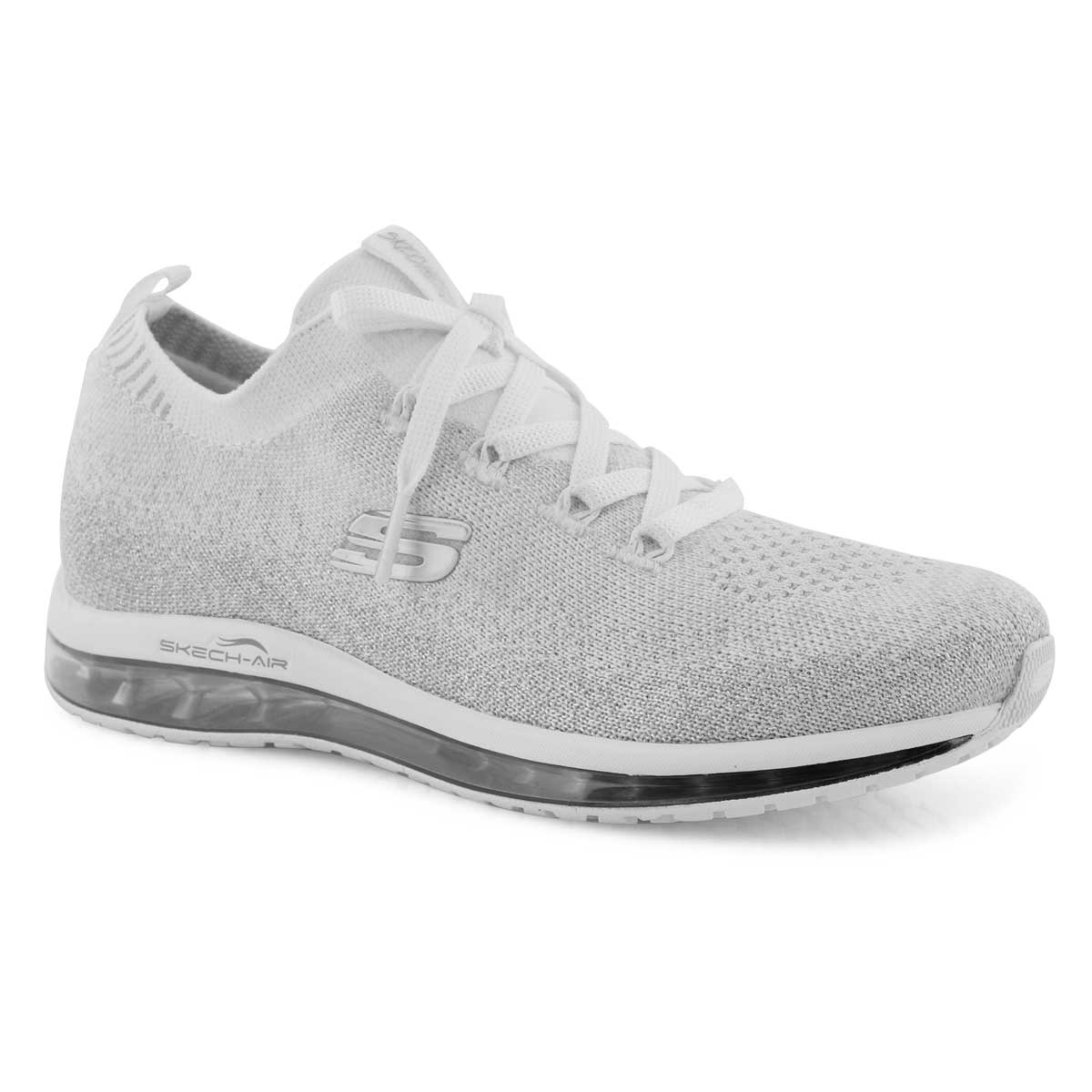 Women's SKECH-AIR ELEMENT white/ silver sneakers