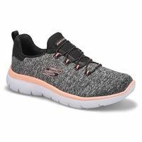 Women's Quick Getaway Sneaker - Black/Coral