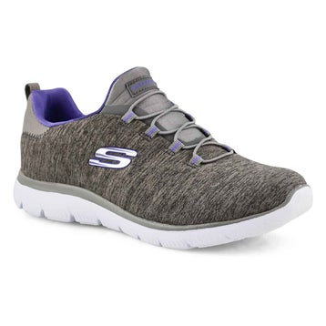 Women's Quick Getaway Wide shoe - Charcoal/Purple