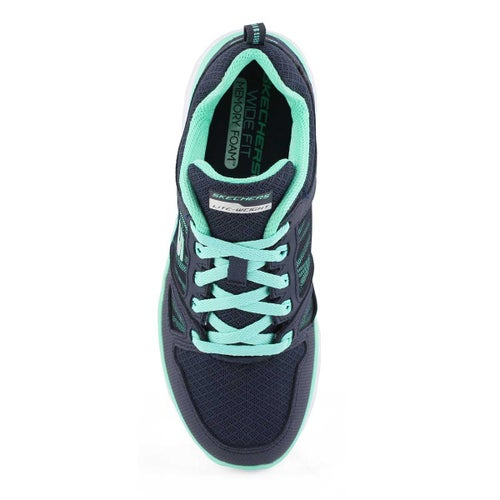 Lds Summits nvy/trq sneaker- wide