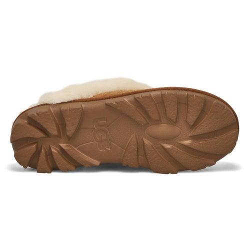 Pantoufle Coquette, mouton châtain, fem