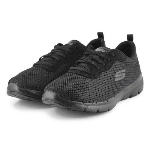 Lds Flex Appeal 3.0 black sneaker- wide