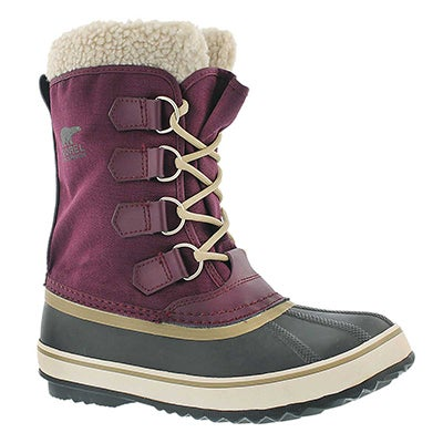 Sorel Women's WINTER CARNIVAL purple winter boots