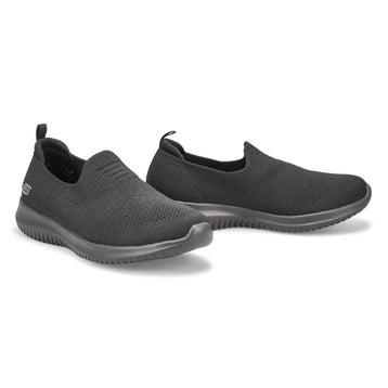 Women's Ultra Flex Harmonious Wide Sneaker - Black