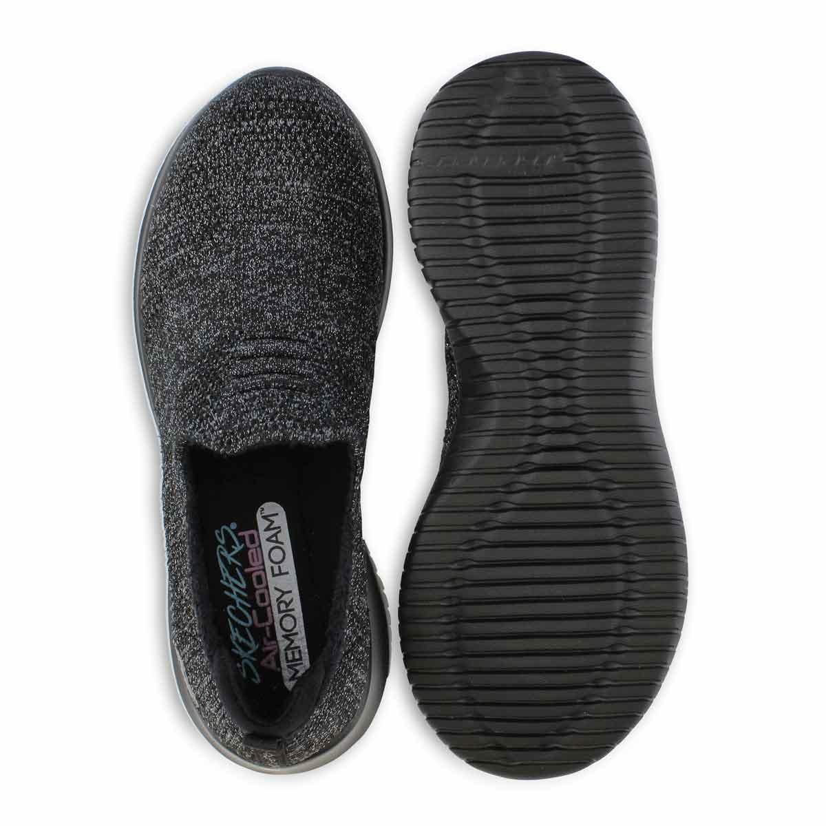 Women's Ultra Flex Sneaker - Black/Charcoal