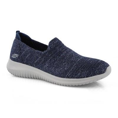 Lds Ultra Flex navy slip on sneaker