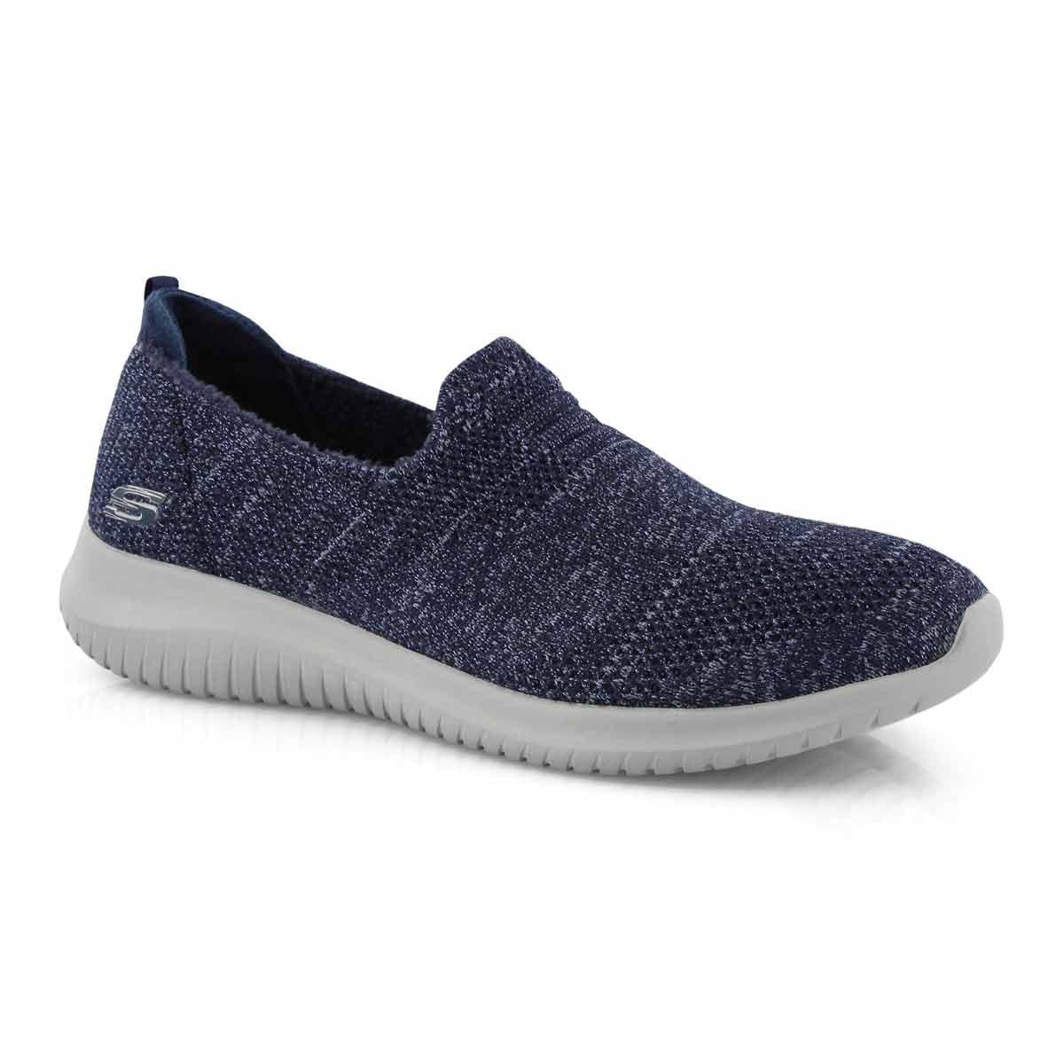 Women's ULTRA FLEX navy slip on sneakers