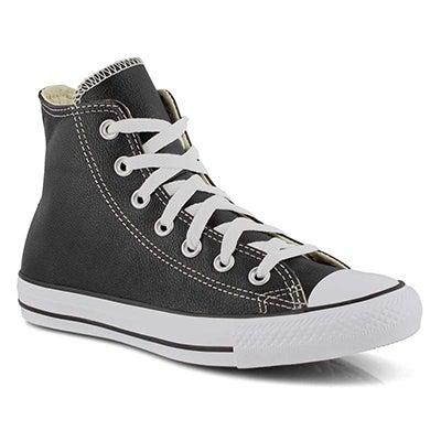 Lds CTAS Leather Hi Sneaker - Black