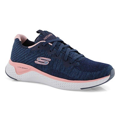 Women's SOLAR FUSE navy/pink lace up sneakers