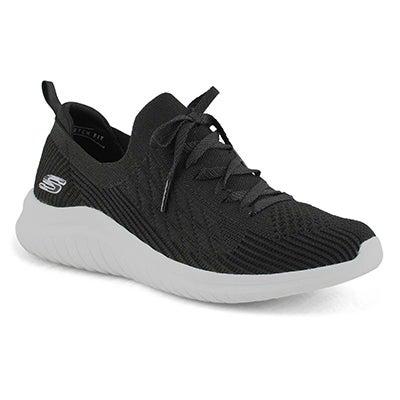 Women's ULTRA FLEX 2.0 black/wht slip on sneakers